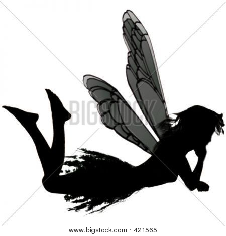 Cute Fairy Sillhouette