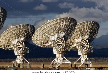 Cluster Of Large Radio Antennas