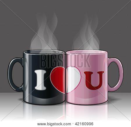 I Love U Mags Black & Pink