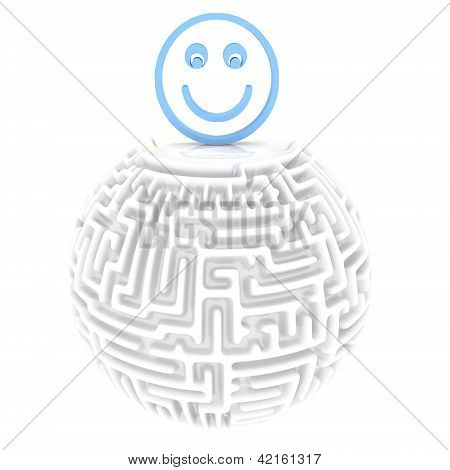 happy smile maze solution icon