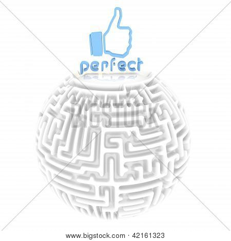 perfectly done maze pictogram
