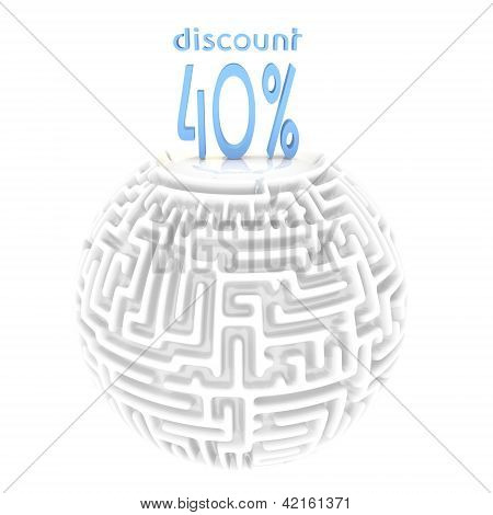 -40% discount 3d labyrinth