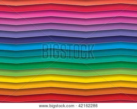 Colorful Background With Horizontal Wave Lines