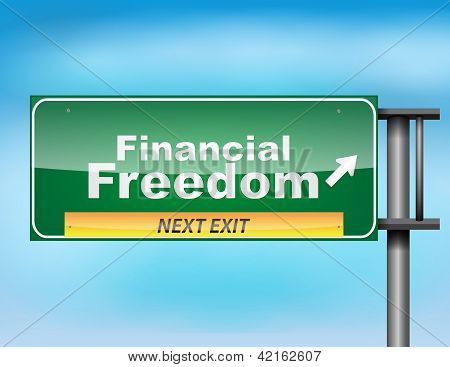 Road Sign Concept With The Text Financial