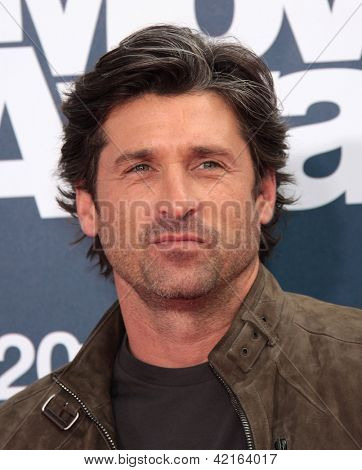 LOS ANGELES - JUN 05:  PATRICK DEMPSEY arriving to MTV Movie Awards 2011  on June 05, 2011 in Hollywood, CA