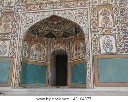 Detail, Painted Murals Of The Palace,