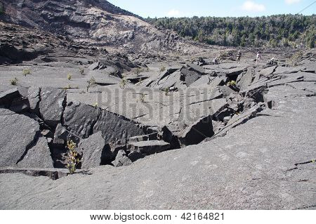 Trail Through Volcanic Debris