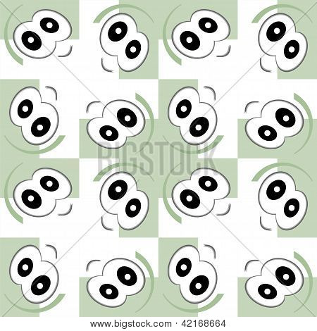 Cartoon Eyes Seamless Pattern