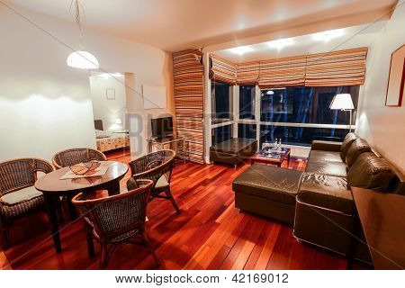 Interior Of Modern Hotel Room