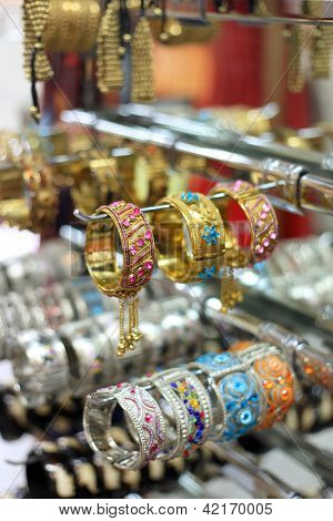 Colorful and beautifully crafted Indian bangles