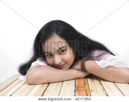 Portrait Of An Asian Teenage Girl