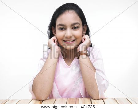 Smart Asian Teenage Girl Of Indian Origin