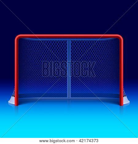 Ice hockey net. Vector.