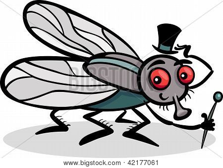 Housefly Insect Cartoon Illustration