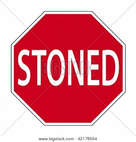Joke street sign - STONED