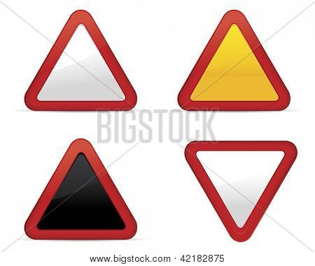 Blank road signs set.Vector
