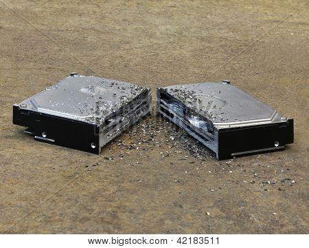 Halved Hard Disk
