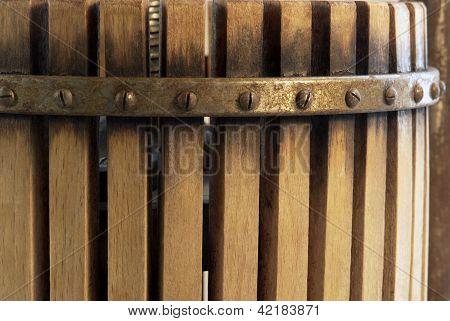 Nostalgic Wooden Squeezer Closeup