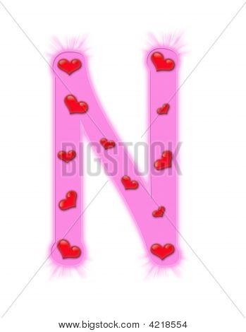 n alphabet in love  Valentine'S Day Alphabet -