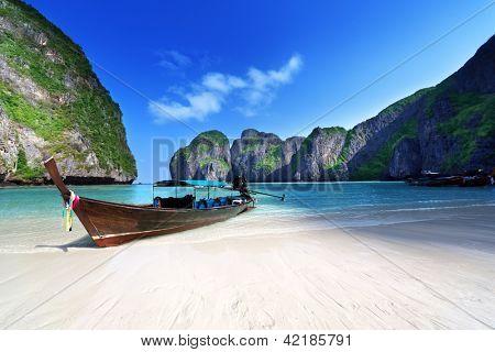 Maya bay ilha de Phi Phi Leh, Tailândia