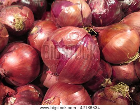 Sweet Purple Onion Pattern Background