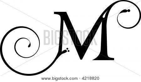 Fancy Letter m Font Fancy Letter m Fonts Letter m