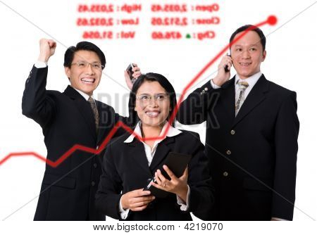 Happiness When The Stock Price Arise Rapidly