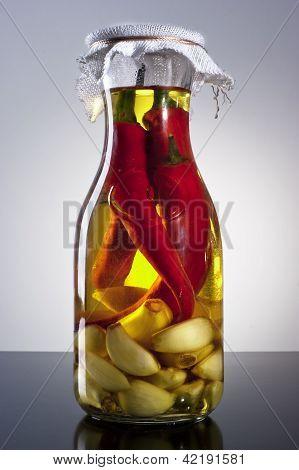 aceite de oliva de Chile de ajo infundido casero picante fragancia increíble