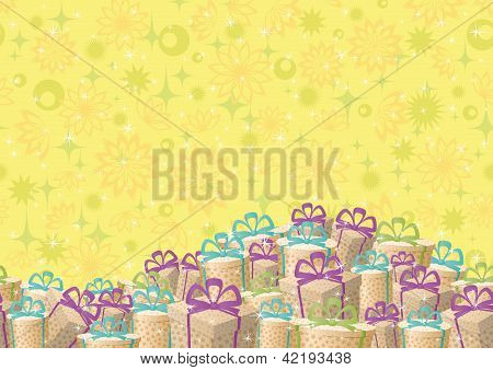 Holiday gift boxes, background