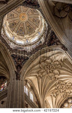Interior of  Salamanca Cathedral