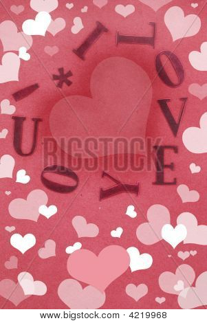 I Love You Card Filled With Hearts