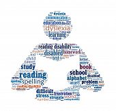 stock photo of dyslexia  - Dyslexia in word collage - JPG