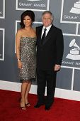 LOS ANGELES - FEB 10:  Julie Chen, Les Moonves arrive at the 55th Annual Grammy Awards at the Staple
