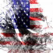 stock photo of usa flag  - American flag background with a grunge touch - JPG