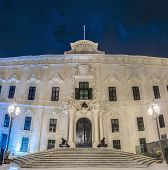 image of prime-minister  - The Auberge de Castille houses the office of the Prime Minister of Malta in Valletta - JPG