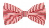 stock photo of bow tie hair  - Red white striped bow tie - JPG