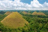 stock photo of chocolate hills  - Famous chocolate cone hills Bohol island Philippines - JPG