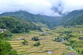 stock photo of ifugao  - Philippines rice terraces in the valley Hapao Banaue - JPG