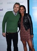 LOS ANGELES - JAN 06:  DAX SHEPARD & JOY BRYANT arriving to TCA Winter Press Tour 2012: NBC Party  o