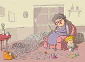 image of grandma  - Grandma Crochet Maze Game - JPG