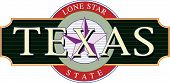 stock photo of texas star  - A Texas and Lone Star State logo - JPG