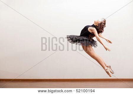 Gorgeous ballerina during a jump