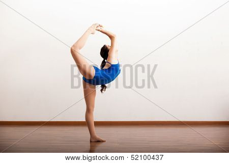 Cute dancer trying out some moves