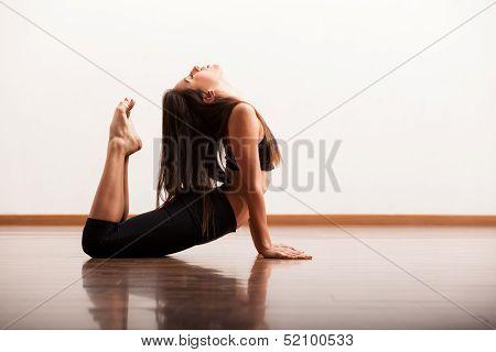 Sexy dancer in the dance floor
