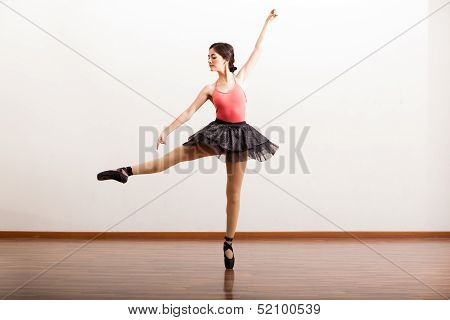 Rehearsing in a dance academy