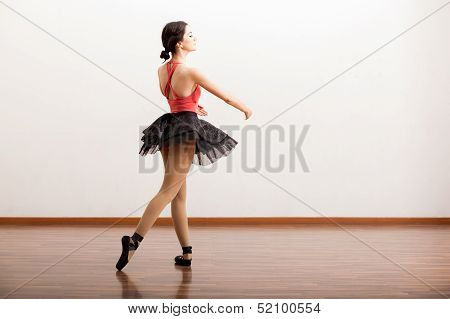 Pretty ballerina wearing a tutu