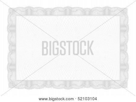 Template Gray border diplomas, certificate and currency. Vector illustration