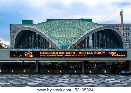 DORTMUND, GERMANY - OCTOBER 25: Dortmund Opera facade on October 25, 2011 in Dortmund, Germany