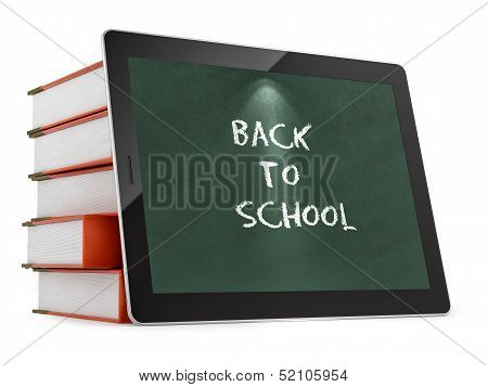 tablet PC with Back to School text