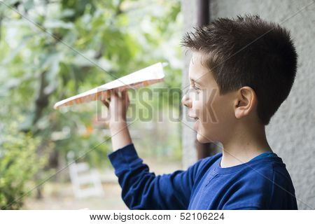 Kid Throws Paper Plane